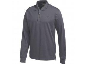 Puma LS Solid pánské golfové tričko antracitové