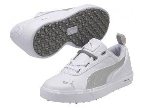 Puma MonoliteMini juniorské golfové boty bílá/stříbrná