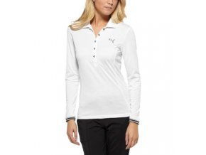 Dámské golfové tričko Puma s dlouhým rukávem bílé