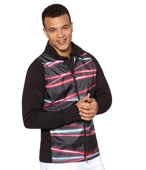 Puma golf Puma Fluid Lught Jacket - pánská golfová bunda do deště černá Velikost: XL