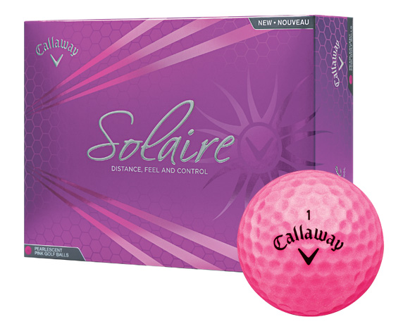 Callaway golf Callaway Solaire dámské golfové míče růžové