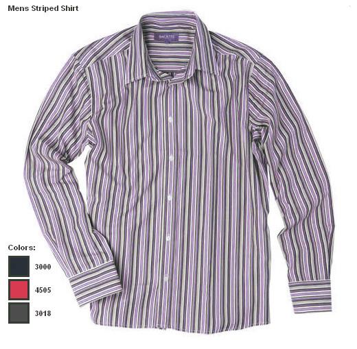 BackTee golfová košile s pruhy -fialová Velikost: L