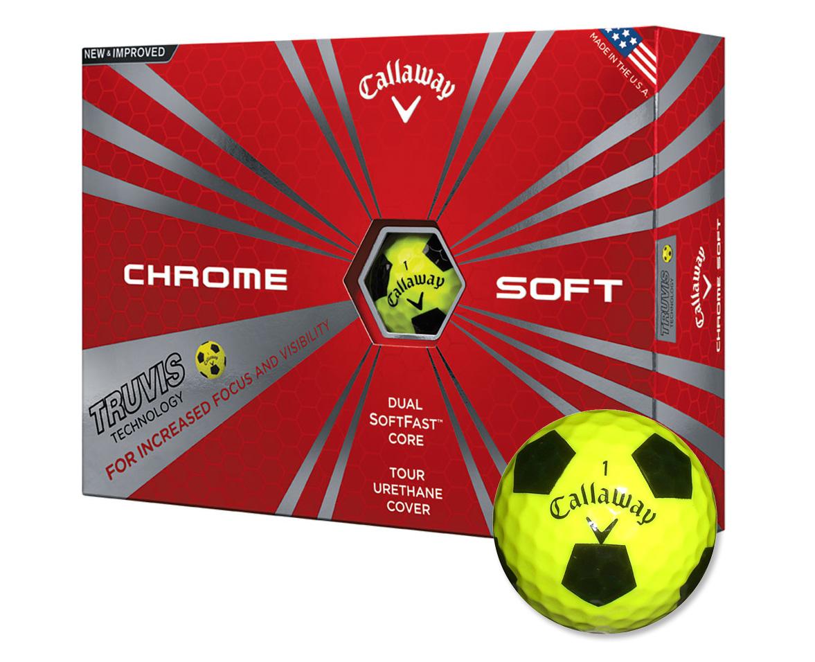 Callaway golf Callaway Chrome Soft Truvis golfové míče žluté
