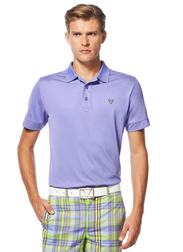 Callaway golf Callaway Solid Stitched Polo fialové Velikost: S