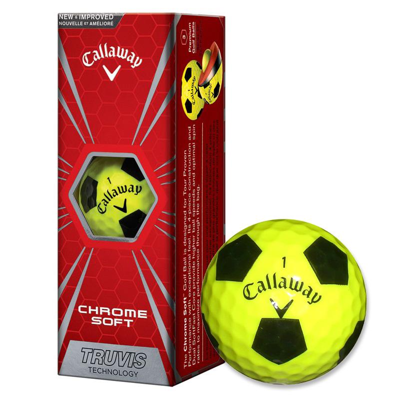 Callaway golf Callaway Chrome Soft Truvis golfové míče žluté Velikost: 3 ks