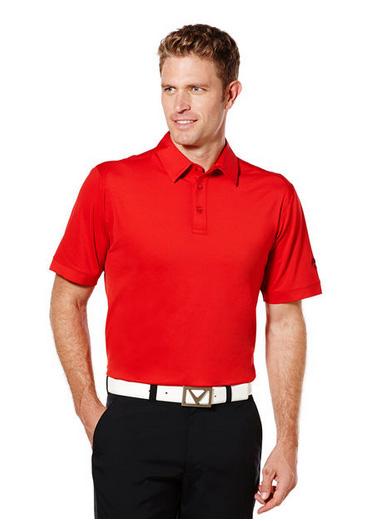 Callaway golf Callaway Poly Polo pánské červená salsa Velikost: S