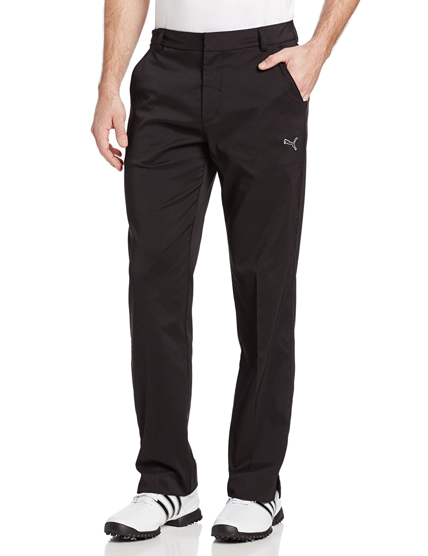 Puma Winter Tech pant pánské golfové kalhoty černé velikost kalhot: 36/34