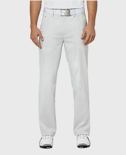 Puma golf Puma 6 Pocket pánské golfové kalhoty - světle šedá Velikost: 36/32