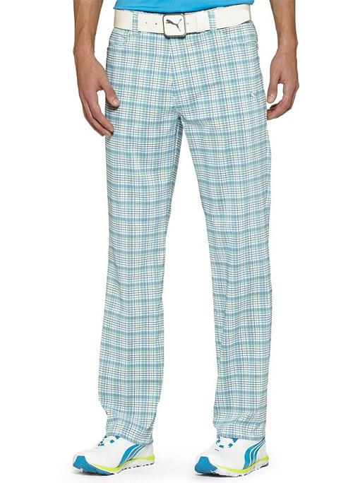 Puma golf Puma pánské golfové kalhoty s kostkami aqua Velikost: 28/32