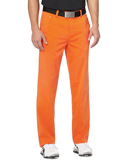 Puma 6 Pocket pánské golfové kalhoty - oranžové Velikost: 34/32