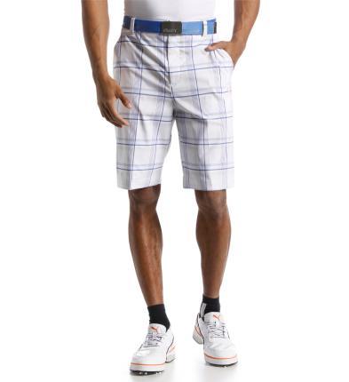 Puma golfové kraťasy pánské bílé s kostkami Velikost: 36
