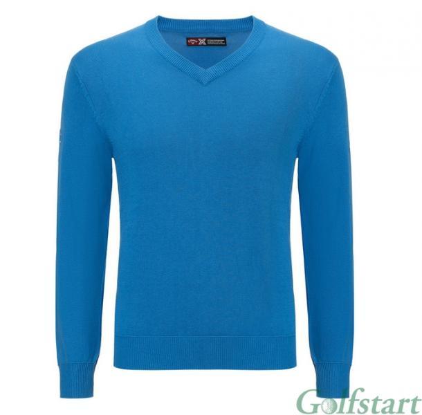 Callaway golf Callaway V-Neck Jersey pánský svetr - nebesky modrá Velikost: M