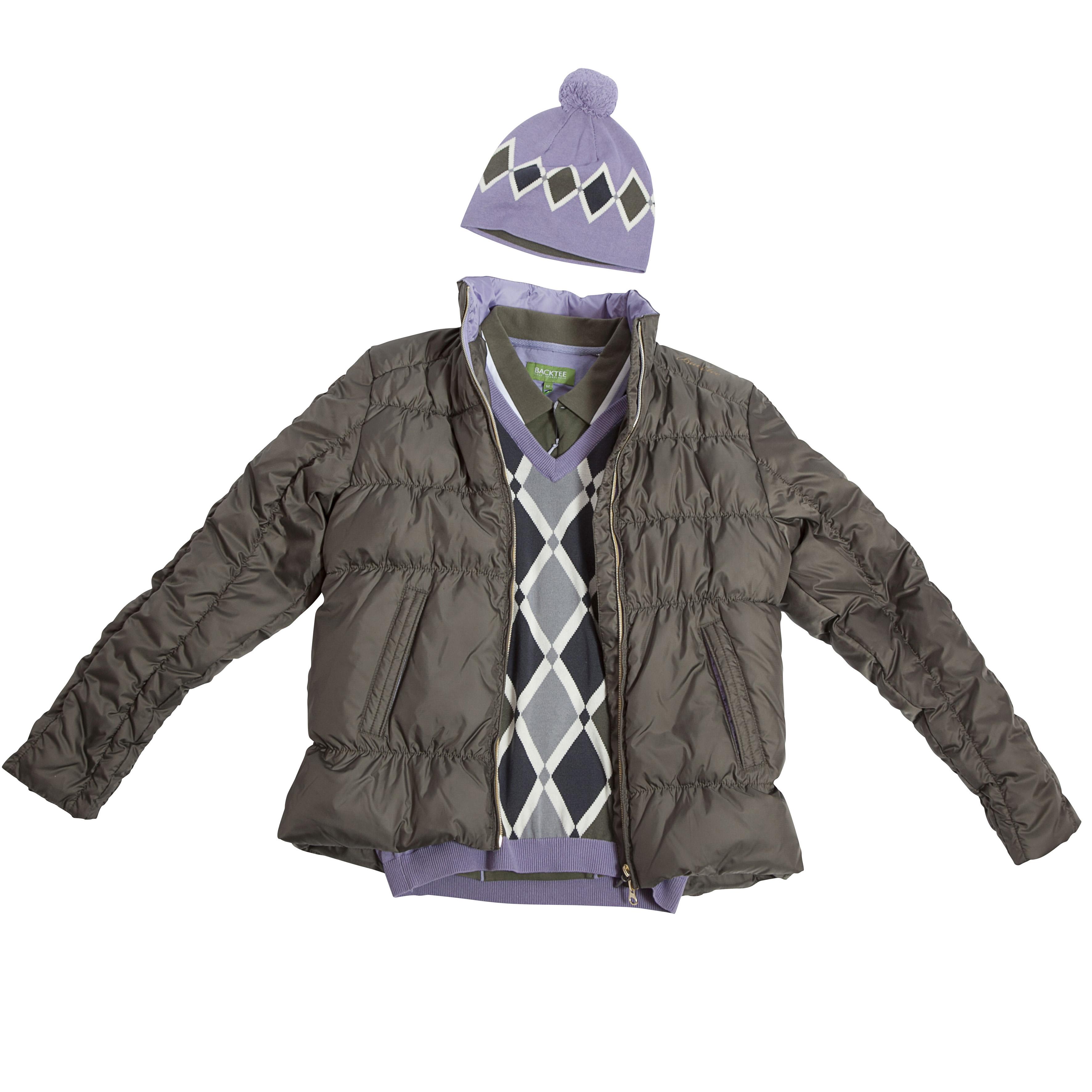 BackTee dámská péřová golfová bunda - olivová Velikost: XL