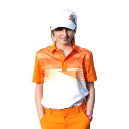 Puma golf Puma junior golfové tričko oranžové Velikost: 152