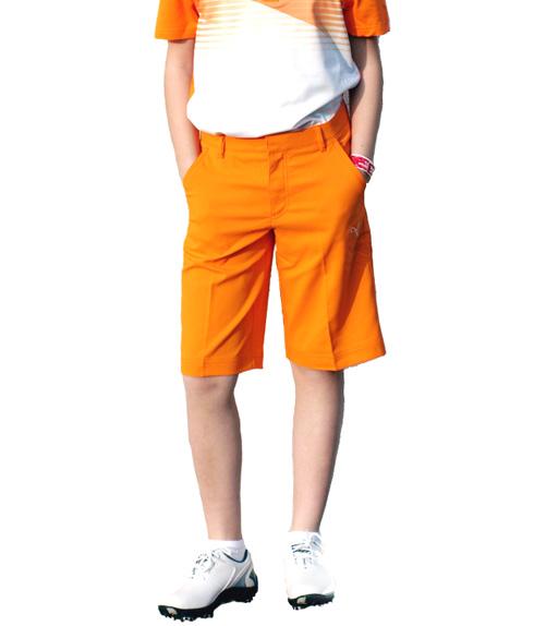 Puma golf Puma junior golfové kraťasy oranžové Velikost: 128