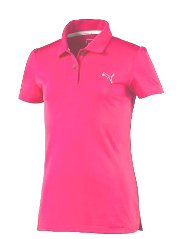 Puma golf Puma Junior Pounce Polo - juniorské tričko dívčí růžové Velikost: 164