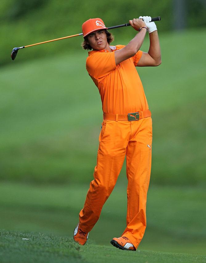 Puma golf Puma Junior 5 Pocket Pant - juniorské golfové kalhoty oranžové Velikost: 164