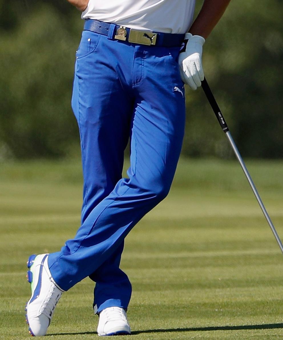 Puma golf Puma Junior 5 Pocket Pant - juniorské golfové kalhoty modré Velikost: 140
