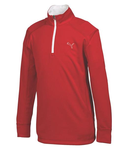 Puma golf Puma Junior LS 1/4 Zip Top termo mikina červená Velikost: 116
