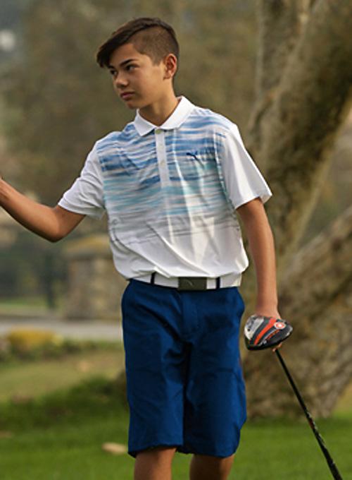 Puma golf Puma juniorské golfové kraťasy modré junior: 116