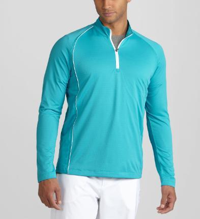 Puma golf Puma 1/4 Zip tričko s dlouhým rukávem modré Barva: Modrá, Velikost: XXL