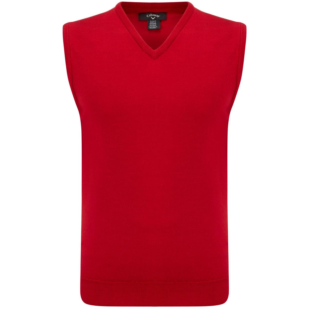Callaway golf Callaway V-neck pánská pletená vesta červená XL