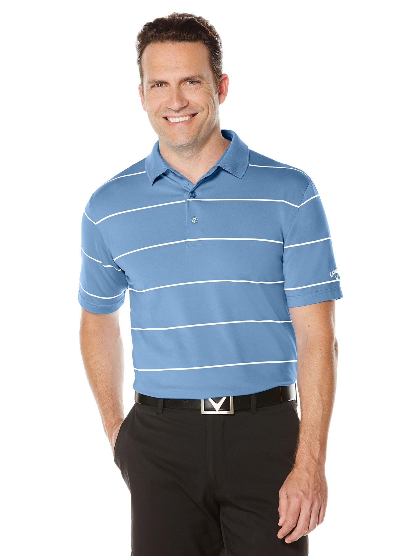 Callaway golf Callaway Athletic Jersey pánské golfové tričko modré Barva: Modrá, Velikost: M