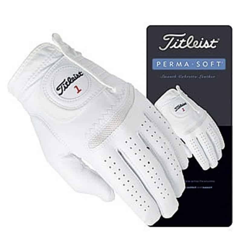 Titleist Permasoft kožená golfová rukavice bílá L