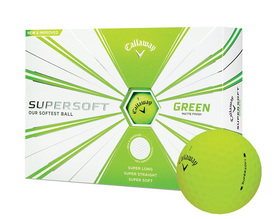 Callaway Supersoft golfové míče zelený neon 12 ks