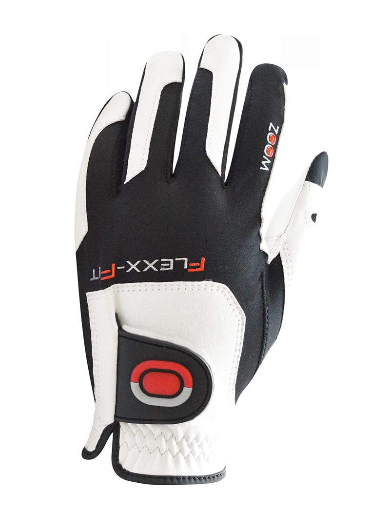 GolfTech Pánská golfová rukavice ZOOM bílá-červená-černá Velikost: univerzální levá