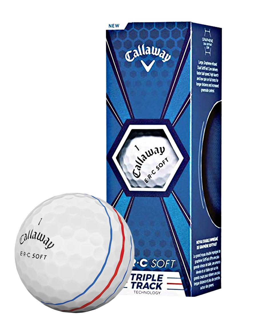 Callaway ERC SOFT golfové míčky bílé s pruhy 3ks