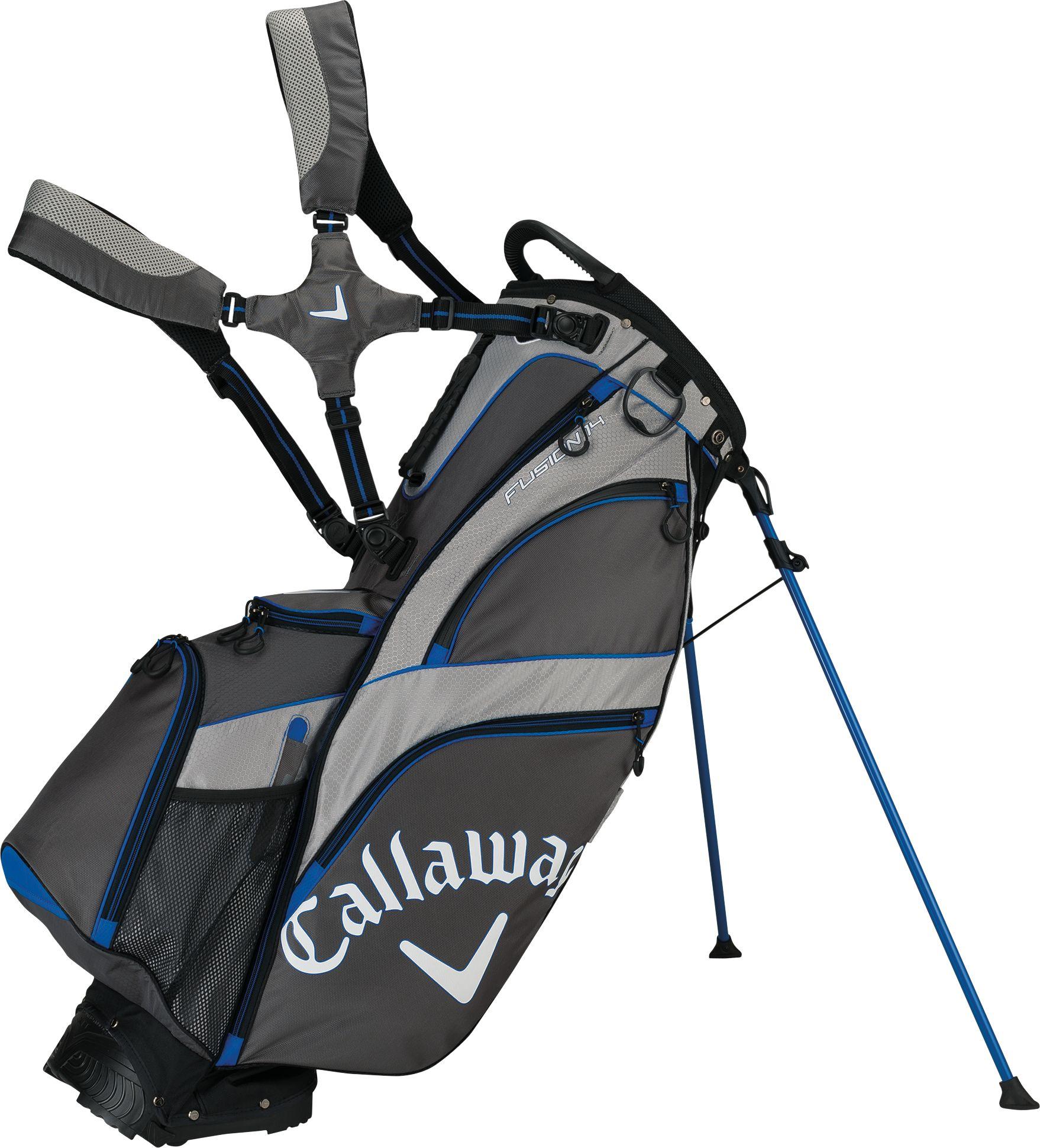 Callaway golf CW Fusion 14 stand bag šedo/stříbrno/ modrý