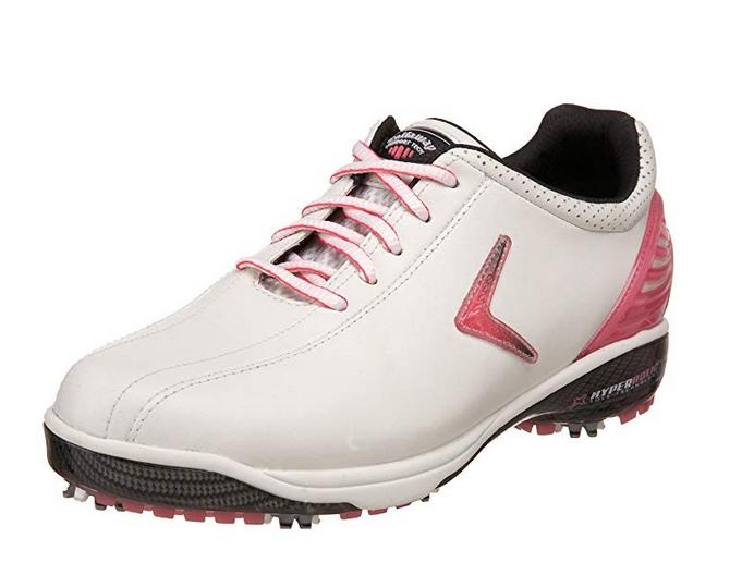 Callaway golf Callaway dámské golfové boty Hyperbolic SL - bílá/růžová Velikost: 40.5