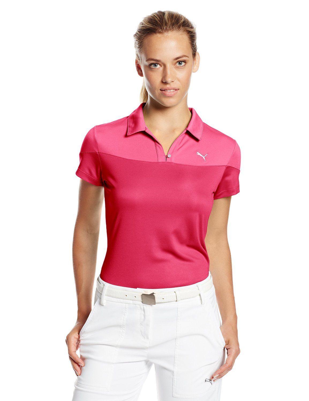 Puma golf Puma dámské golfové tričko růžové Velikost: XS
