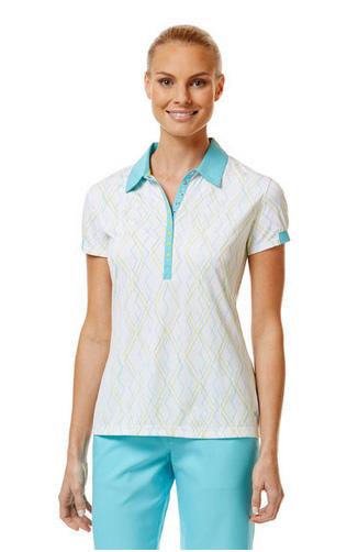 Callaway golf Callaway dámské golfové tričko bílé se vzorem Velikost: S