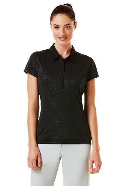 Callaway golf Callaway Embossed dámské golfové tričko černé Velikost: XS