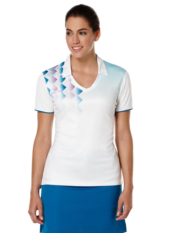 Callaway golf Callaway dámské golfové tričko bílo modré Velikost: L