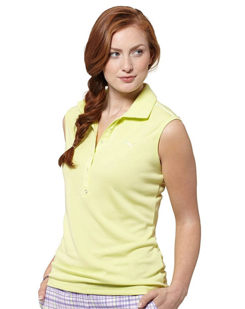 Puma golf Puma dámské golfové tričko bez rukávů - sunny Velikost: S