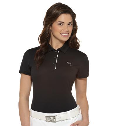 Puma golf Pumá dámské golfové tričko černé Velikost: XS