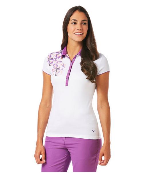 Callaway golf Callaway print polo dámské golfové tričko bílé Velikost: XS