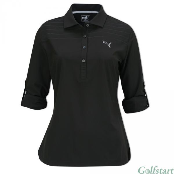 Puma golf Puma Sport Woven dámské golfové tričko s dlouhým rukávem černé Velikost: XS