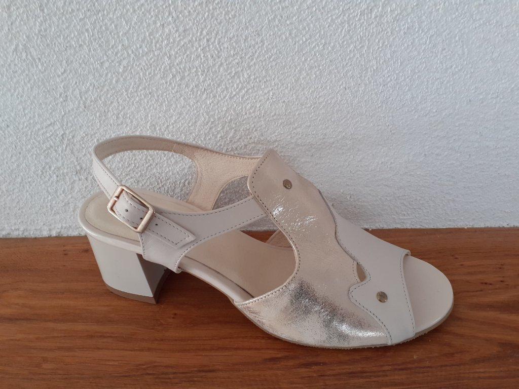 Dámske sandále  JT 18378 Bež-zlata