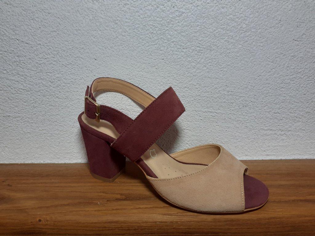 Dámske sandále T 2263o/6516 Víno bež