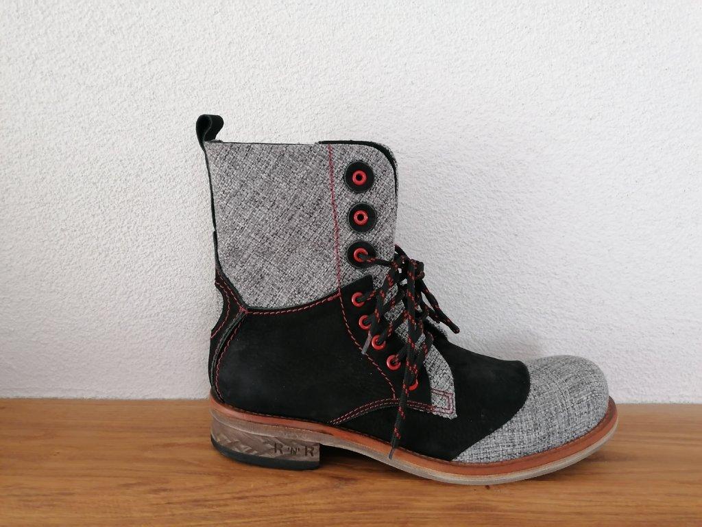 Pánska členková obuv  D 099 Čierna