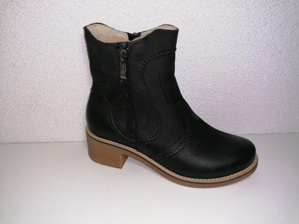 Dámska kotniková obuv B 326 čierna