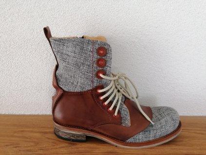 Pánska členková obuv  D 099 Hnedá