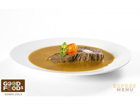 Milánská hovězí pečeně 300g (1 porce)