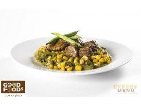 Hovězí maso se zeleninou (1 porce)