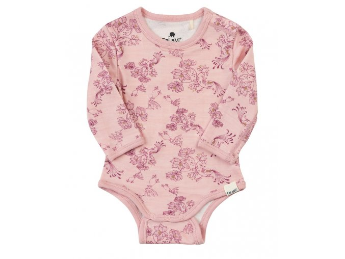 CeLAaVi – body – Merino / Bambus – Růžová