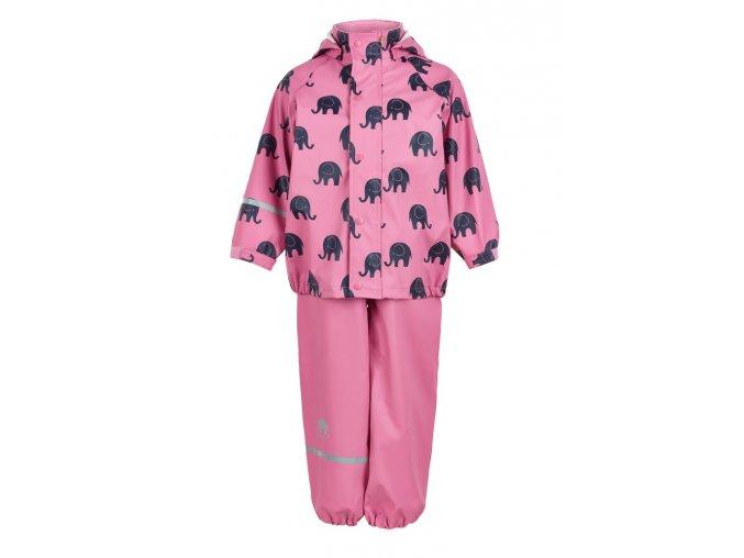 CeLaVi – kalhoty a bunda do deště – Slon – Růžová